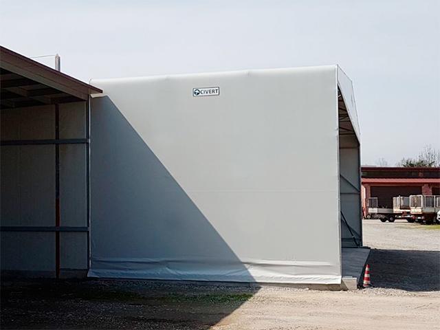 tunnel mobili fronte magazzino