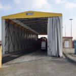 tunnel acciaio retrattile